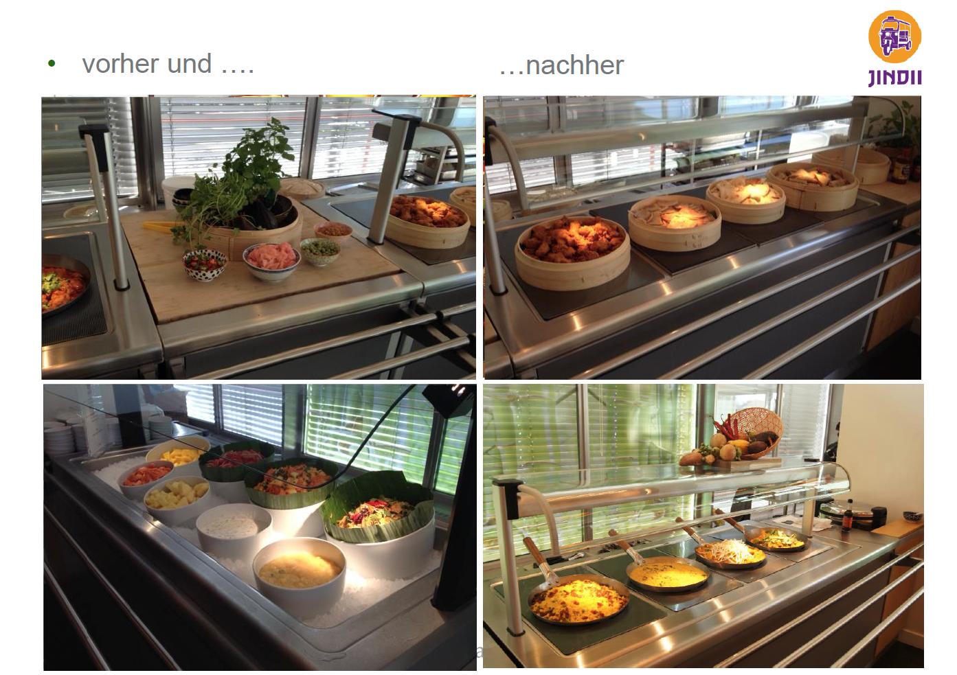 Theke Vorher/Nachher
