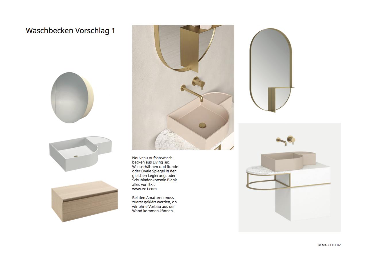 Konzept - Waschbeckenvorschlag