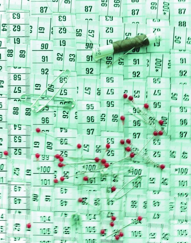Pinwand aus Massbänder