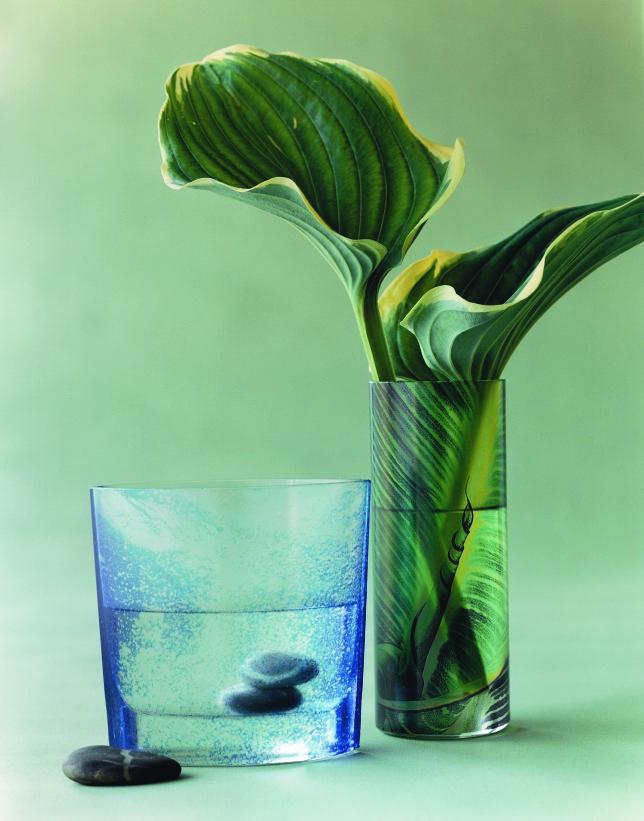 Vasen mit Folie